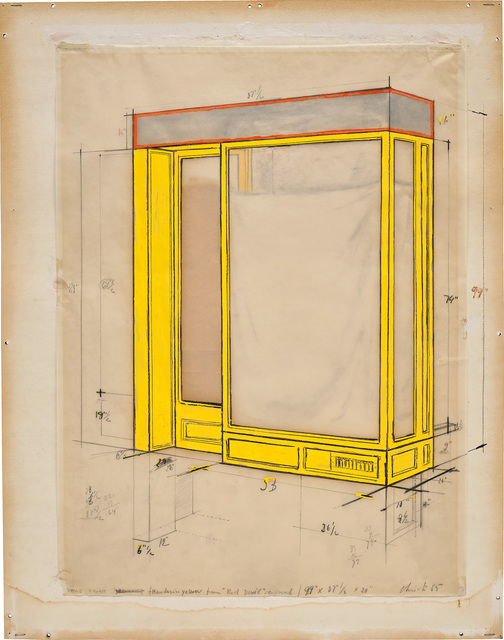 Christo, 'Store Front (Mandarin Yellow)', 1965, Phillips