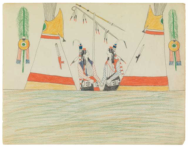 , 'LEDGER DRAWING (P4160g),' ca. 1875-78, Donald Ellis Gallery