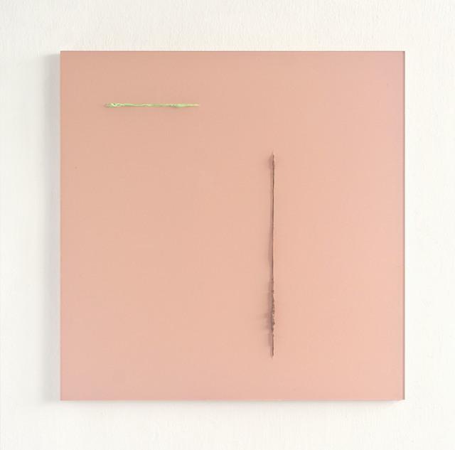 , 'Gelb Braun durch Rose,' 2017, Galerie Heike Strelow