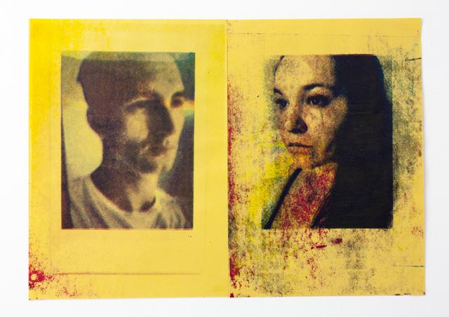2060BC, 'The Charlatans (Yellow Diptych)', 2020, Print, Silkscreen Print on Poundland Paper, IFAC Arts