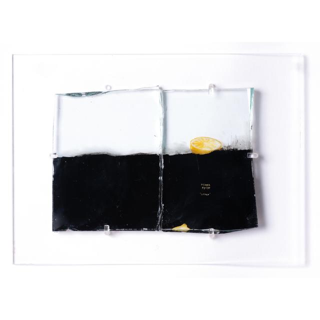 Philippe Favier, 'Citron', Mixed Media, Peinture et feuille d'or sur verre en deux parties, PIASA