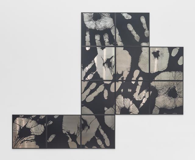 Regina Silveira, 'Touchin' Black 2', 2016, Engraving on aluminum, Luciana Brito Galeria