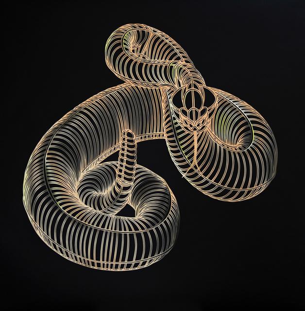 , 'Golden Snake,' 2016, Victor Lope Arte Contemporaneo