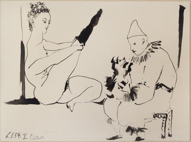 Pablo Picasso, 'Circus People with Dog', 1954, Richard Nagy Ltd.