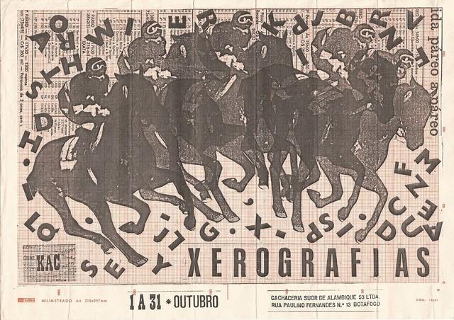 , 'Xerografias,' 1982, Marsiaj Tempo