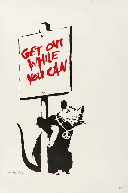 Banksy, 'Get Out While You Can', 2004, Maddox Gallery: The Contemporary Sale