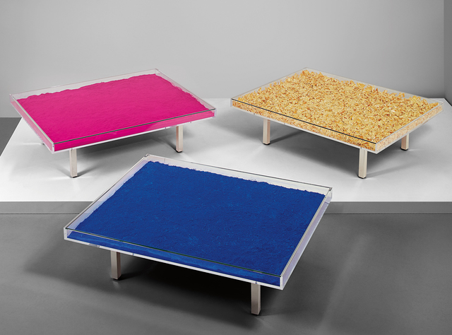 Yves Klein, 'Three works: (i) Table Bleue (ii) Table d'Or (iii) Table Rose', 1961, Phillips