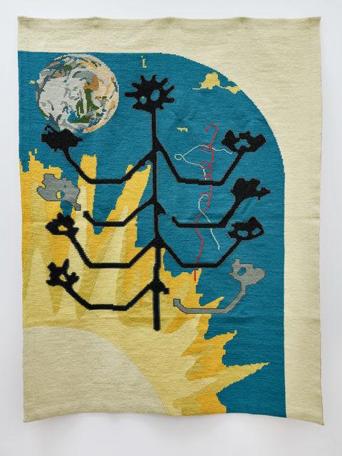 , 'stick-people adore the sun (tree of life),' 2018, 3+1 Arte Contemporânea