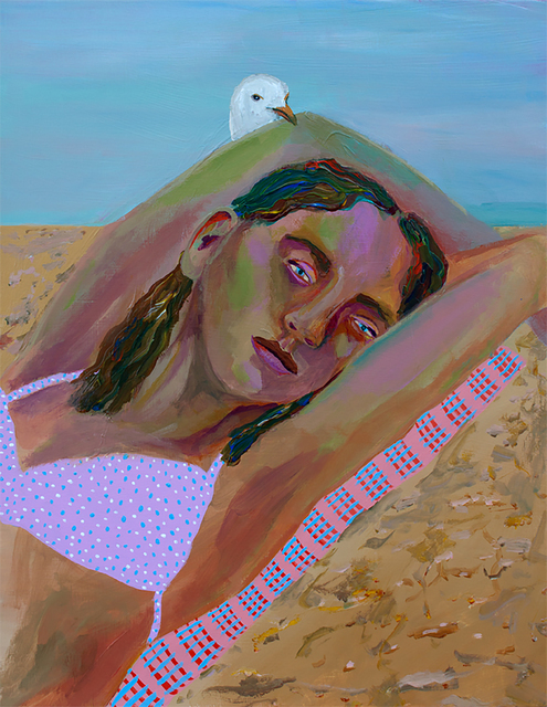 , 'Girl with Seagull,' 2016, HATHAWAY | Contemporary Gallery