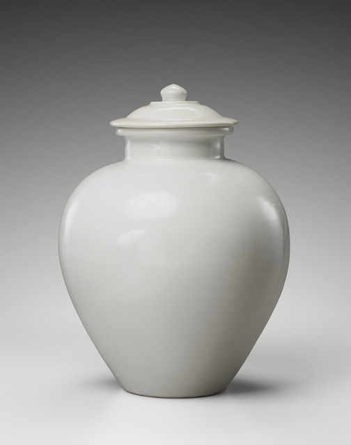 , 'White-glazed pottery jar and cover, Tang Dynasty (618-907),' ca. 9th century, Gagosian