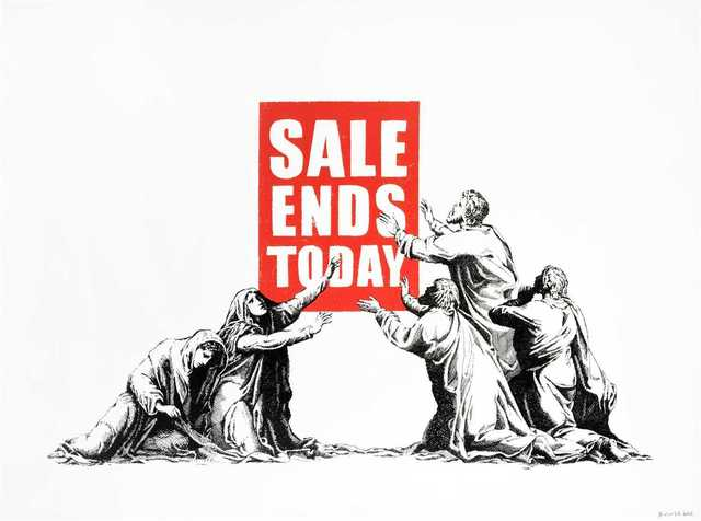 Banksy, 'Sale Ends', 2017, Tate Ward Auctions