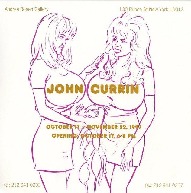 John Currin, 'Andrea Rosen Gallery, John Currin, Card', 1997, James Fuentes