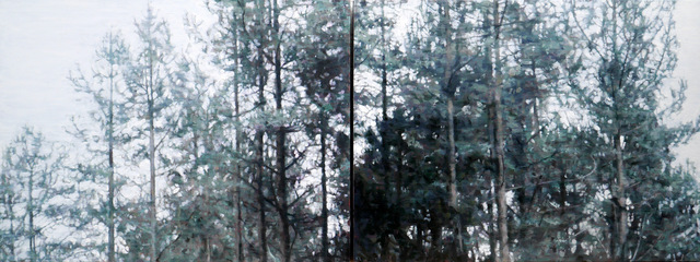 , 'Forest Day Diptych,' 2017, Reuben Colley Fine Art