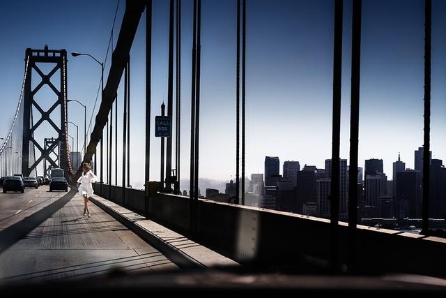 David Drebin, 'Running The Bridge', 2014, Photography, Digital C-Print, Isabella Garrucho Fine Art
