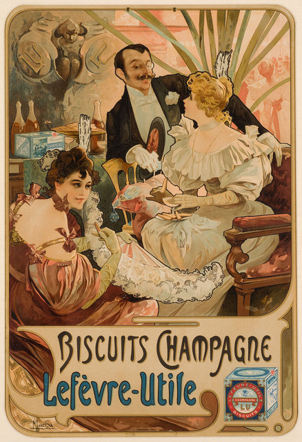 , 'BISCUITS CHAMPAGNE LÈFEVRE-UTILE,' 1896, Christopher-Clark Fine Art