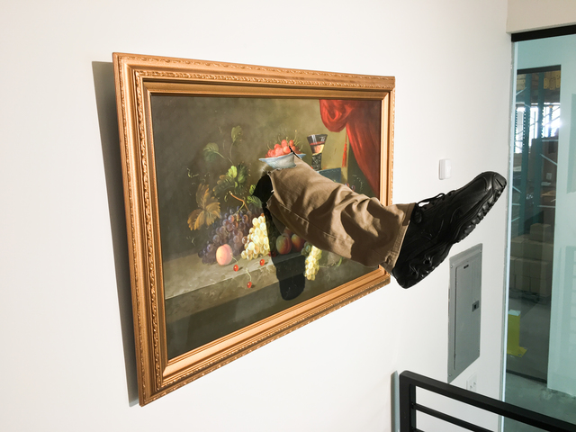 , 'Kicked Painting,' 2017, Fabien Castanier Gallery