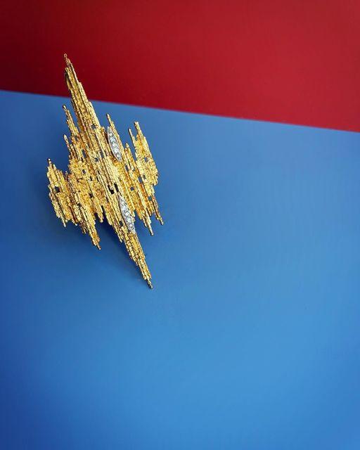 , 'Yellow Gold and Diamond Brooch/Pendant,' 1976, Grima