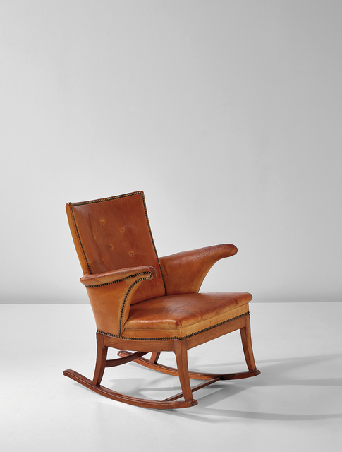 Super Frits Henningsen Rocking Chair Ca 1930 Artsy Andrewgaddart Wooden Chair Designs For Living Room Andrewgaddartcom
