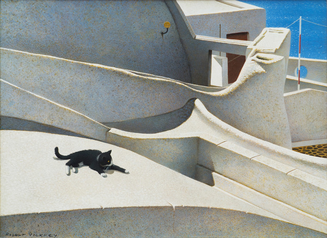 Robert Remsen Vickrey, 'Santorini Cat', 1988, Vose Galleries