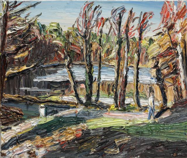 , 'Die letzten Sonnenstrahlen, Krumme Lanke,' 2017, Galerie Kornfeld
