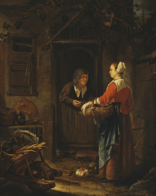 , 'A Girl Selling Grapes to an Old Woman ,' 1658, Royal Collection Trust