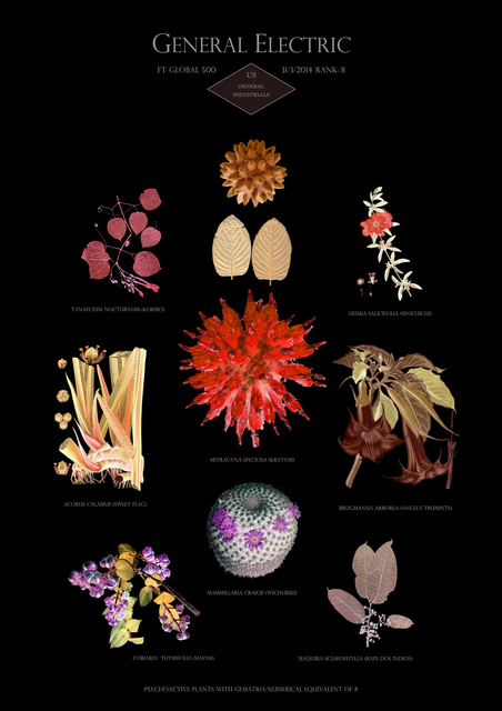 , 'HFT The Gardener/Botanical Prints - Rank 8: General Electric - US - General industrials,' 2014-2015, Annely Juda Fine Art