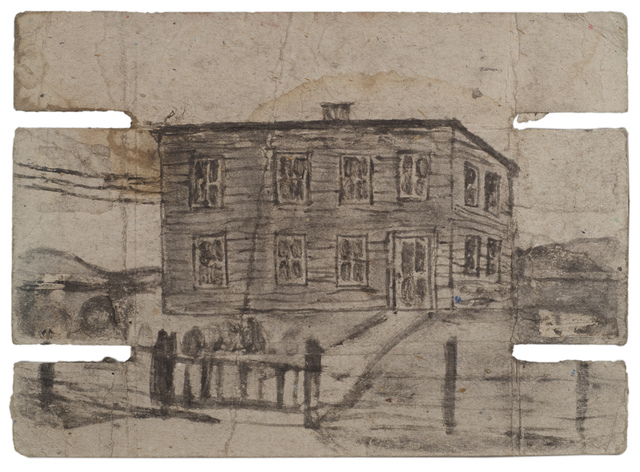 , 'Untitled (Large house, verso: interior),' n.d., Fleisher/Ollman
