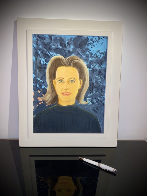 Alex Katz, 'Study for Black Sweater (Small Painting)', 1997, Frank Fluegel Gallery