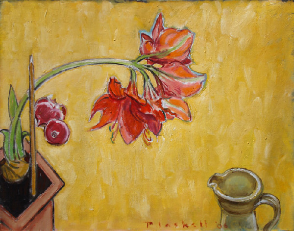 Joseph Plaskett, 'Red Amaryllis & Red Onion', Bau-Xi Gallery