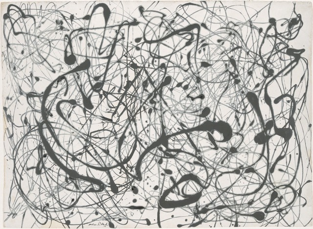 Jackson Pollock, 'Number 14: Gray', 1948, Painting, Enamel over gesso on paper, Yale University Art Gallery