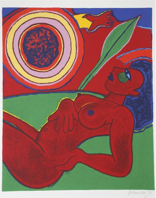 Guillaume Corneille, ' Le nu rouge en été', 1994, Le Coin des Arts