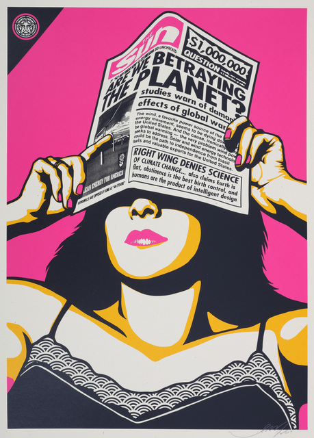 Shepard Fairey, 'Global Warning (Pink)', 2009, Chiswick Auctions