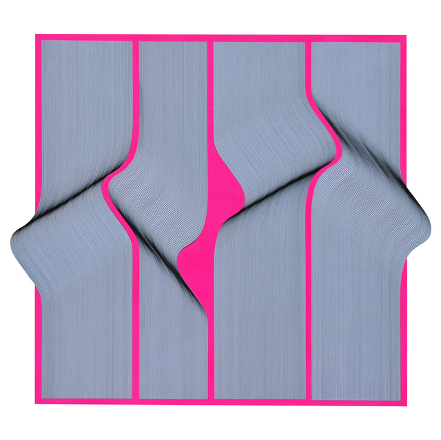 , 'Surface Fluo geometric abstract painting,' 2019, Contempop Gallery