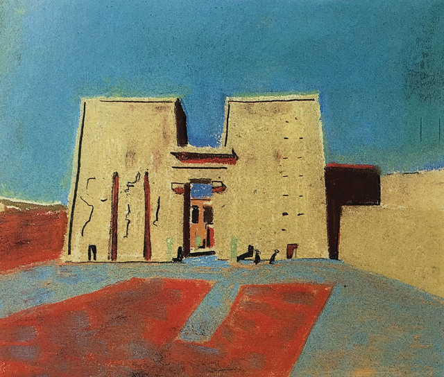 , 'Louis Kahn,Temple of Horus, Edfu, Egypt,' 1951, Kimbell Art Museum