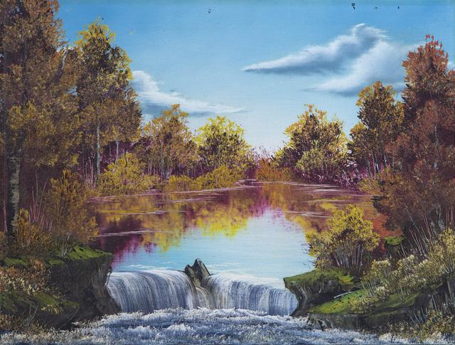 Bob Ross, 'Bob Ross Authentic Original Waterfall Oil Painting Contemporary Art ', 1970-2010, Modern Artifact