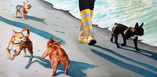 , 'Small Dog Walk Two,' 2017, Sue Greenwood Fine Art