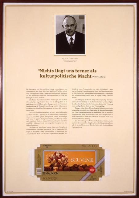 , 'Der Pralinenmeister,' 1981, Museum Ludwig