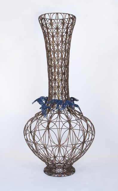 , 'Bottle with Blue Birds,' 2014, Lisa Sette Gallery