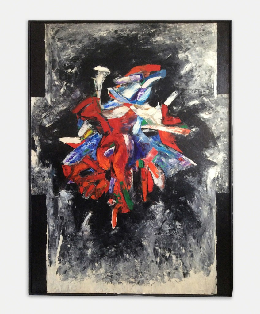 """Sonia Gechtoff, The Map, 1958, Oil on canvas, 97"""" x 71"""""""