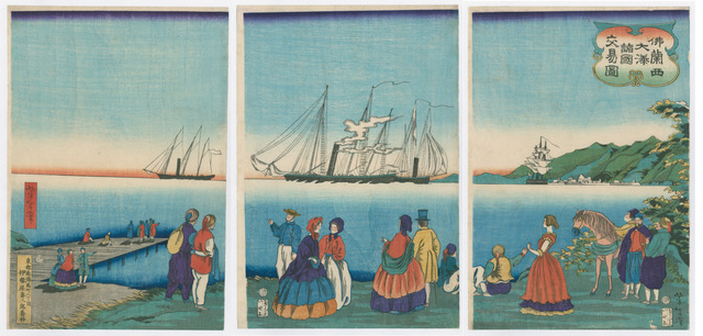 , 'Picture of Trade with Many Nations in a Large French Port,' 1886, The Art of Japan