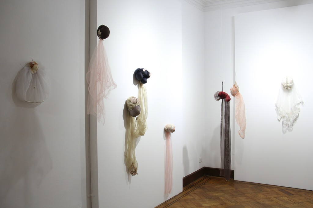Lace and skin installation by Andrea Rey.