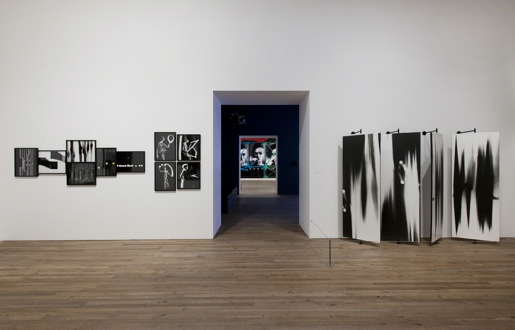 Fashion + Light Drawings installed at Tate Modern, Retrospective exhibition with Daido Moriyama, 2012-13