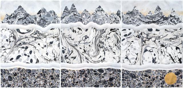 """, 'underground """"ready to wake"""" (triptych),' 2017, Galerie du Monde"""