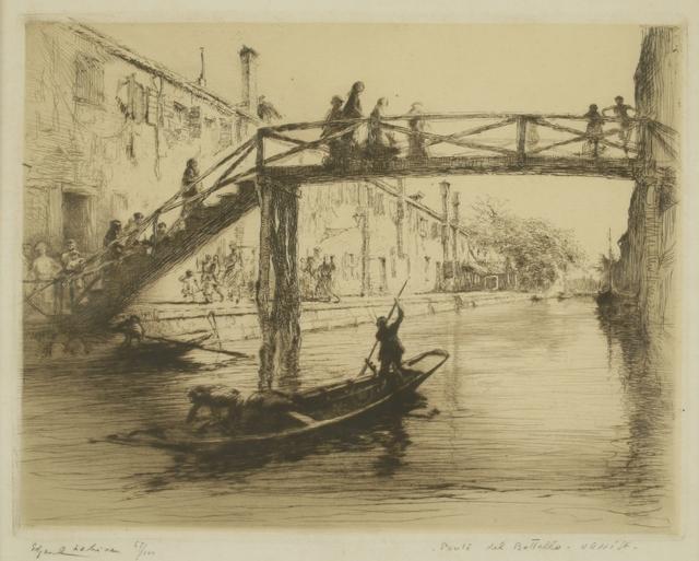 Edgar Chahine, 'Ponte del Bottello, Venice', ca. 1922, Private Collection, NY