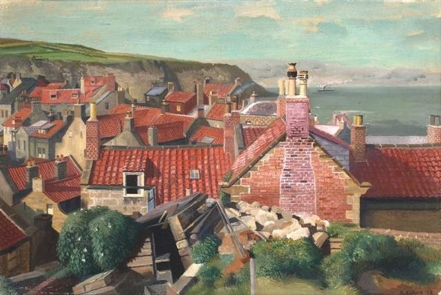, 'Red Roofs, Robin Hood's Bay, Yorkshire,' 1938, Jenna Burlingham Fine Art