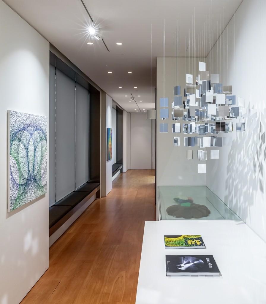 "View of Julio Le Parc's solo exhibition ""LIGHT - MIRROR"" at Perrotin Hong Kong, 2019. Photo Ringo Cheung. ©Julio Le Parc _ ADAGP, Paris & SACK, Seoul 2019. Courtesy Perrotin."