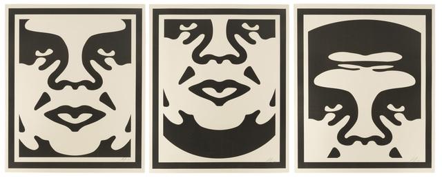Shepard Fairey, 'Obey Giant Triptych', 2008, John Moran Auctioneers