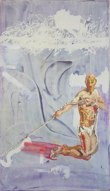 , 'Knieender Mann, Seil ziehend,' 2013, Flowers