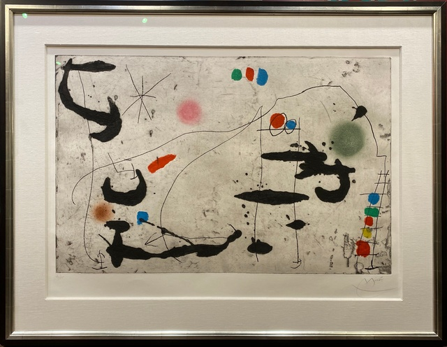 Joan Miró, 'Trace Sur La Paroi VI ', 1967, Print, Color etching, aquatint, and carborundum on chiffon de Mandeure wove paper., Off The Wall Gallery