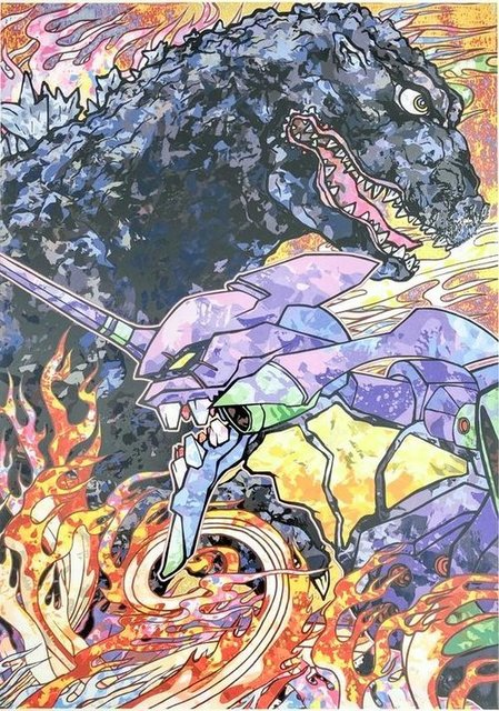 Takashi Murakami, 'Homage to director Hideaki Anno: Evangelion & Godzilla Resurgence ', 2019, Lougher Contemporary